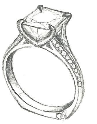 336x429 Diamond Ring Drawing Jewelry