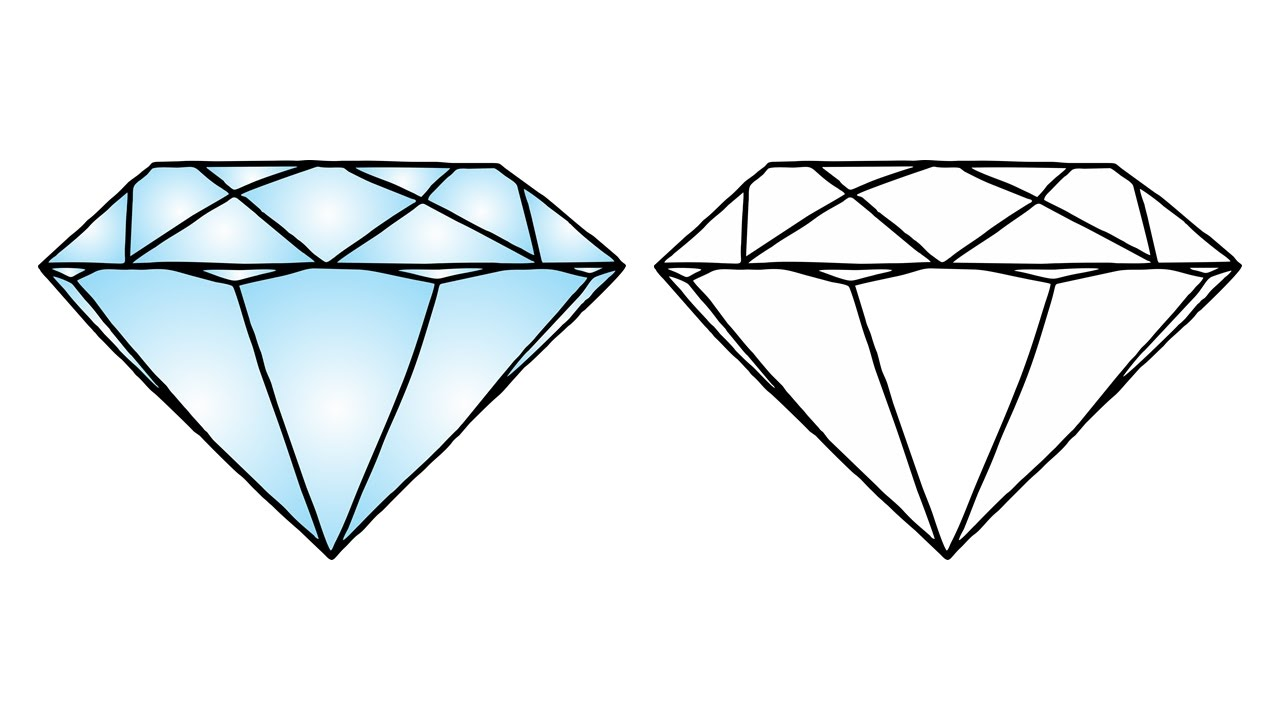 1280x720 How To Draw A Diamond