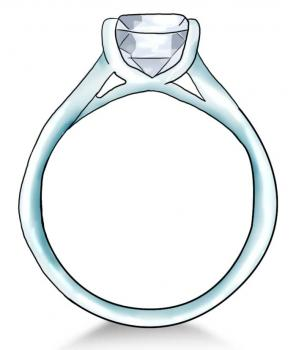 296x350 How To Draw A Diamond Ring, Step