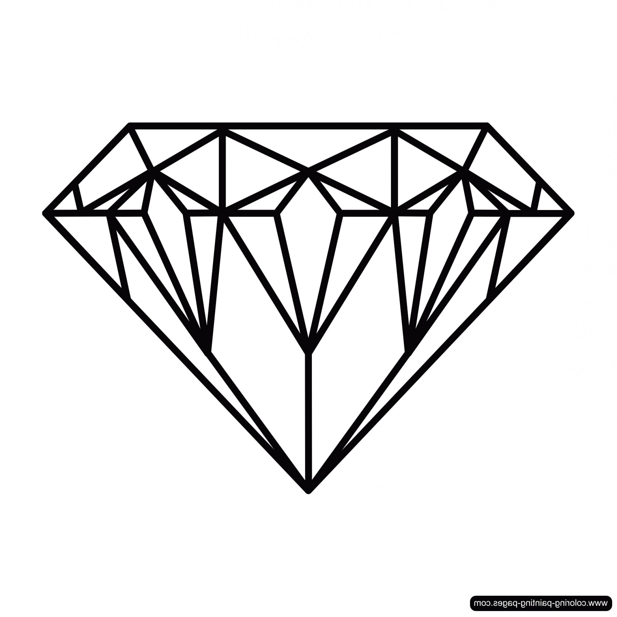 1984x1984 Diamond Drawing Drawing Of A Diamond Art Ideas Prepossessing