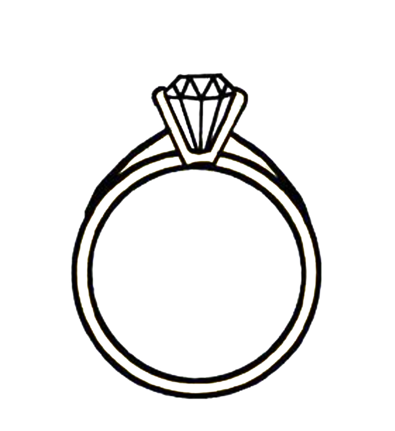 1375x1500 Ring Drawing Diamond Ring For Free Download