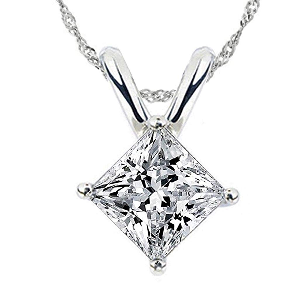 1054x1023 Facets Realistic Carat Princess Cut Simulated