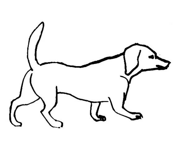 580x464 Dog Coloring Pages
