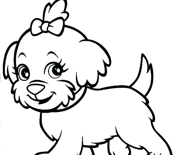 678x600 Coloring Dogs Coloring Dog Pages Feat Free Printable Dogs Simple