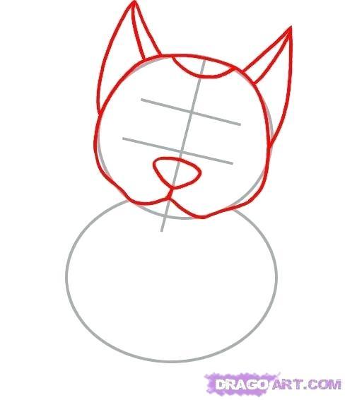 488x566 How To Draw A German Shepherd Step