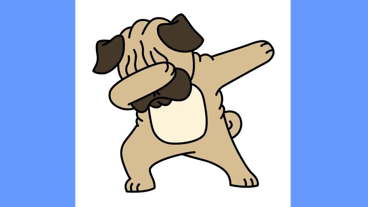 1280x720 How To Draw Dabbing Pug Step