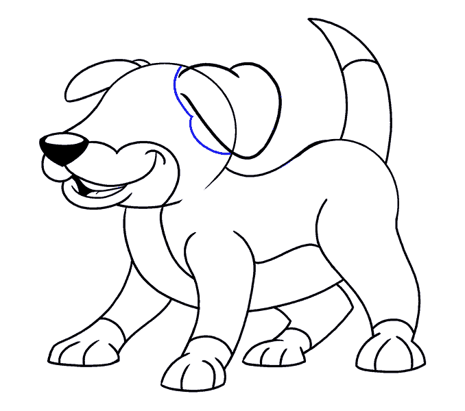678x600 How To Draw A Cartoon Dog Easy Drawing Guides
