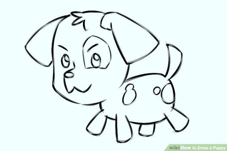728x485 Puppy Drawing Step