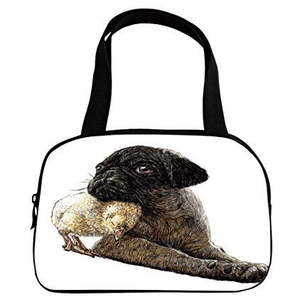425x425 Polychromatic Optional Small Handbag Pink, Pug