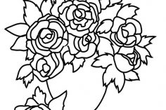 236x157 Black And White Drawing Rose Flower Line Skull Free Clip Art