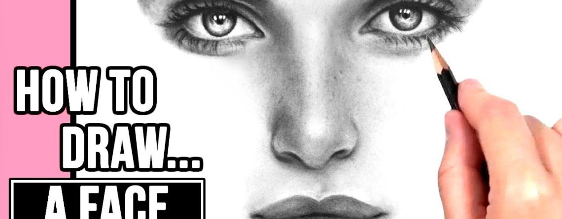 1140x445 How To Draw A Realistic Face Drawing Tutorial Part Eyes, Nose