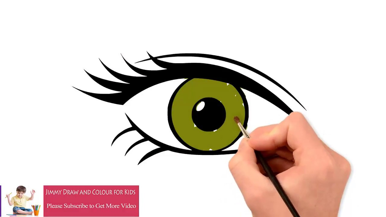 1280x720 How To Draw And Color Realistic Eyes Easy Step