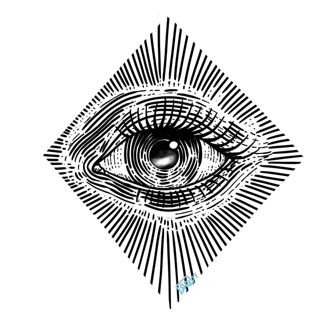 1080x1080 Illustrations In Eye Drawing Simple