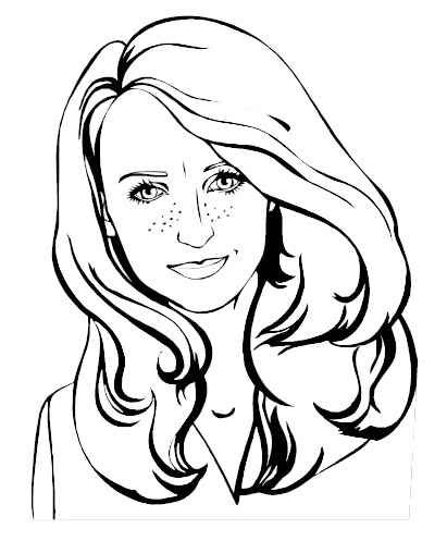 411x497 How To Draw Women Faces Simply