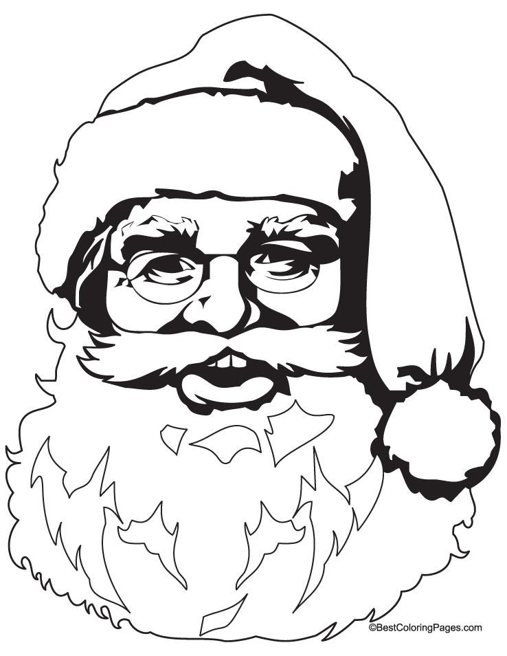 738x954 Santa Claus Drawing, Pencil, Sketch, Colorful, Realistic Art