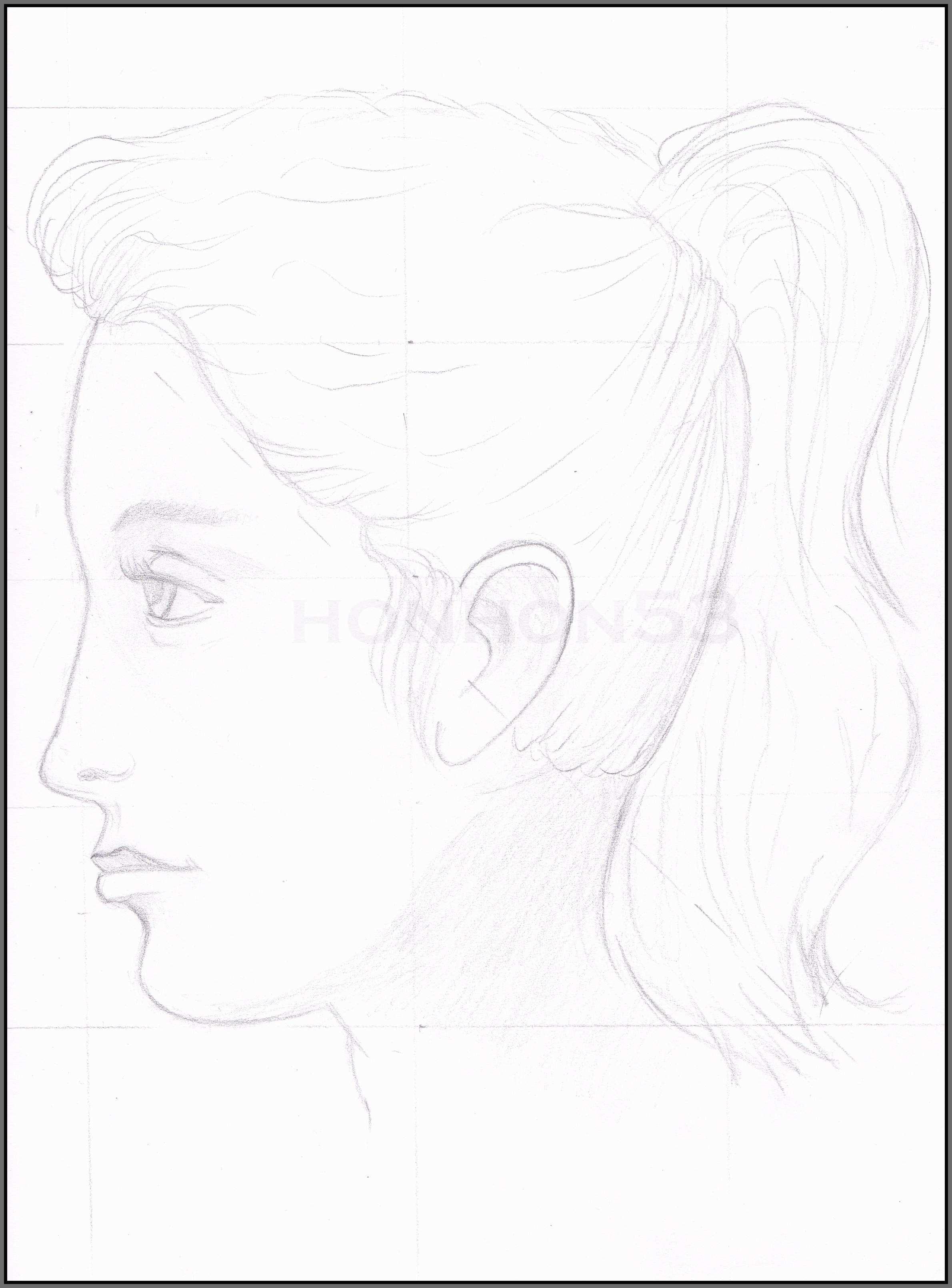 2380x3220 Semi Realism Sketch Elegant Semi Realistic Face Sketches