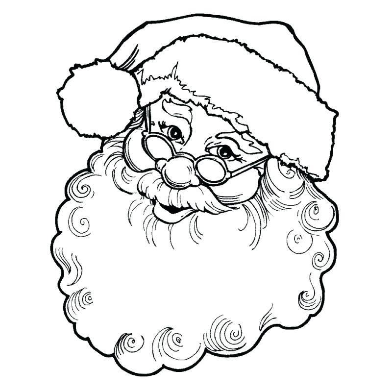 800x800 Draw Santa Face