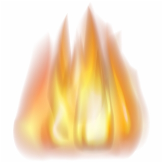 320x320 Hd Fire Light Raging Layered Flame Transparent Clipart