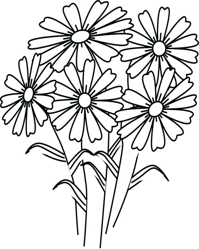 672x840 Coloring Sheets Of Flowers Spring Flower Coloring Pages Flowers