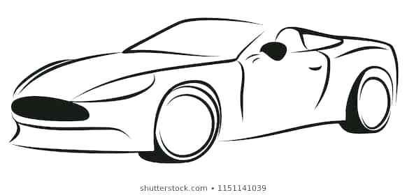 582x280 sports drawing sketch of sports car sports drawings art