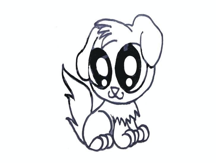 727x549 puppy draw draw puppy dog cartoon puppy drawing step
