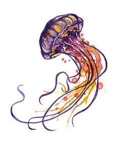 Realistic Jellyfish Drawing
