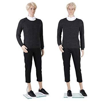 355x355 Songmics Male Mannequin Full Body Manikin Dummy Realistic