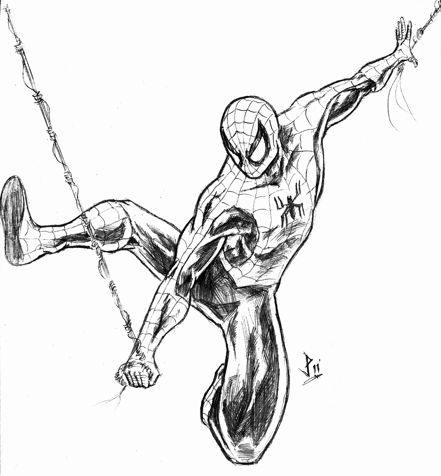 1485x1600 Spider Man Sketch Best Of Spiderman Drawing Pencil Sketch Colorful