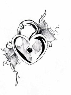 236x316 best heart lock key tattoo design outline images lock key