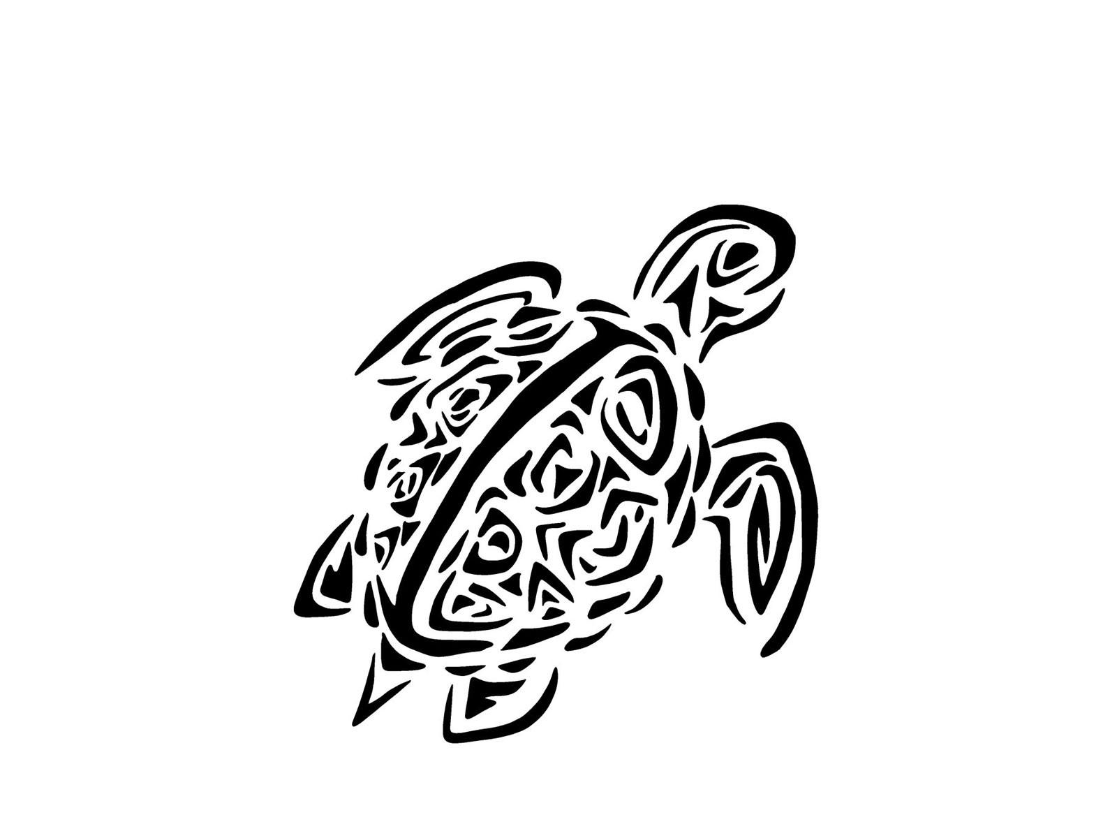 1600x1200 New Tribal Turtle Tattoos