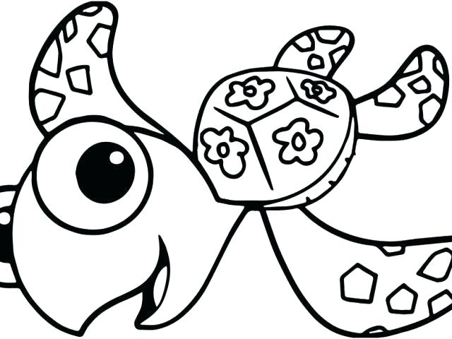 640x480 Realistic Sea Turtle Coloring Pages