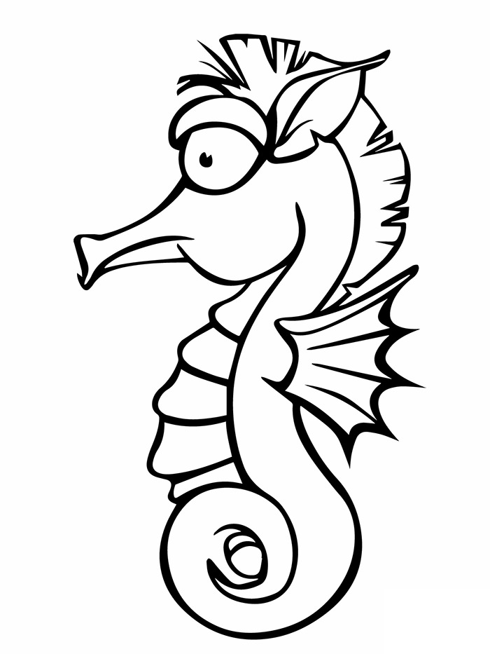 700x933 Seahorse Shape Templates, Crafts Colouring Pages Free