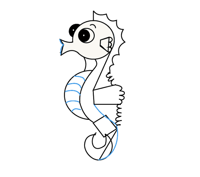 640x566 Collection Of Free Seahorse Drawing Realistic Download On Ui Ex