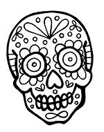 Realistic Sugar Skull Drawing | Free download best Realistic ...