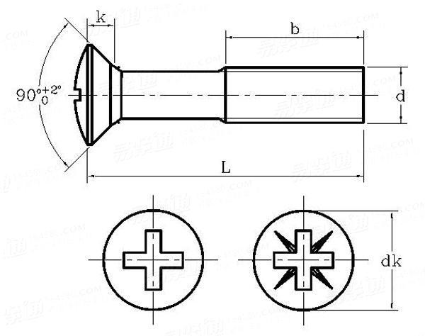 600x474 iso countersunk head screws