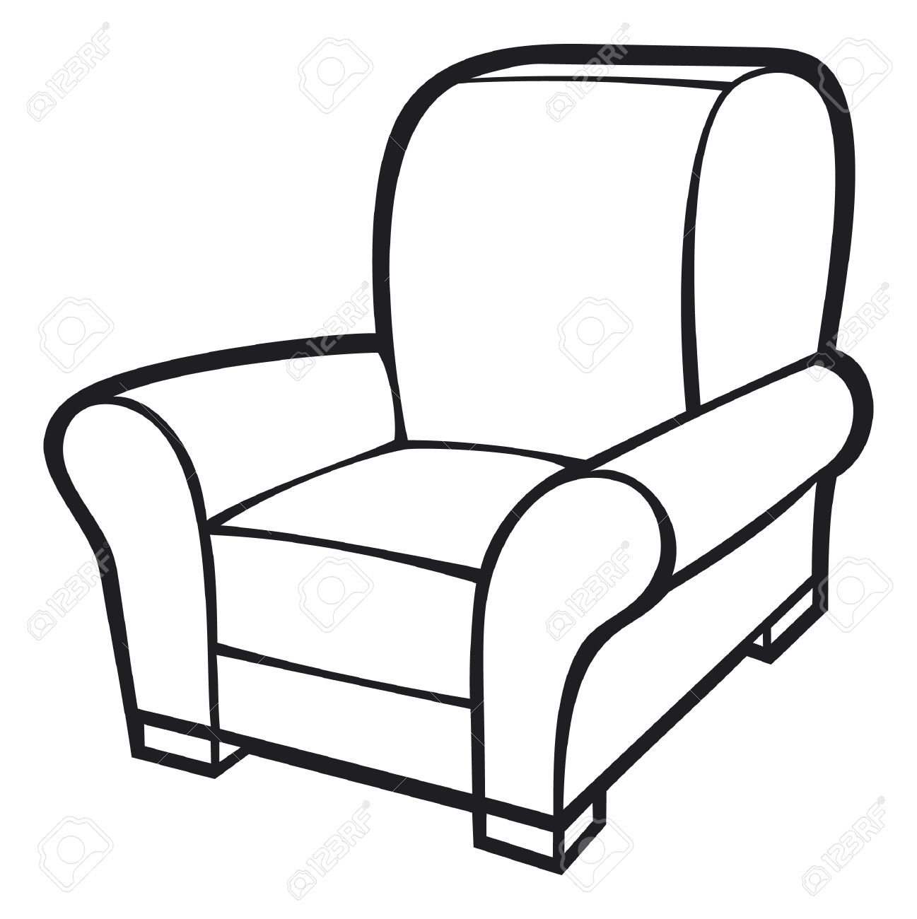1297x1300 sofa clipart black and white pencil and in color sofa blue recliner