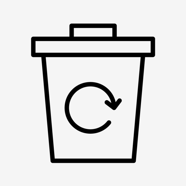640x640 vector garbage recycle icon, garbage recycle, eco, recycle bin png