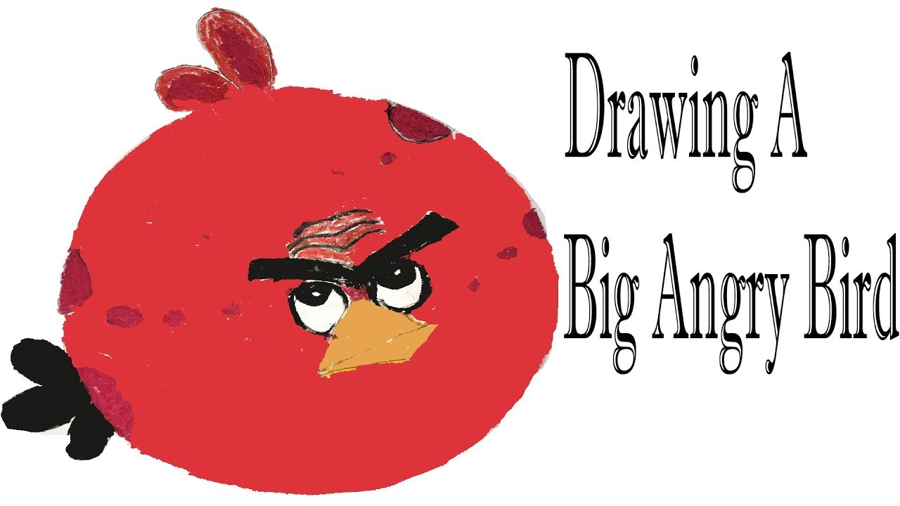 1280x720 How To Draw Big Red Angry Bird For Kids Easy Drawing