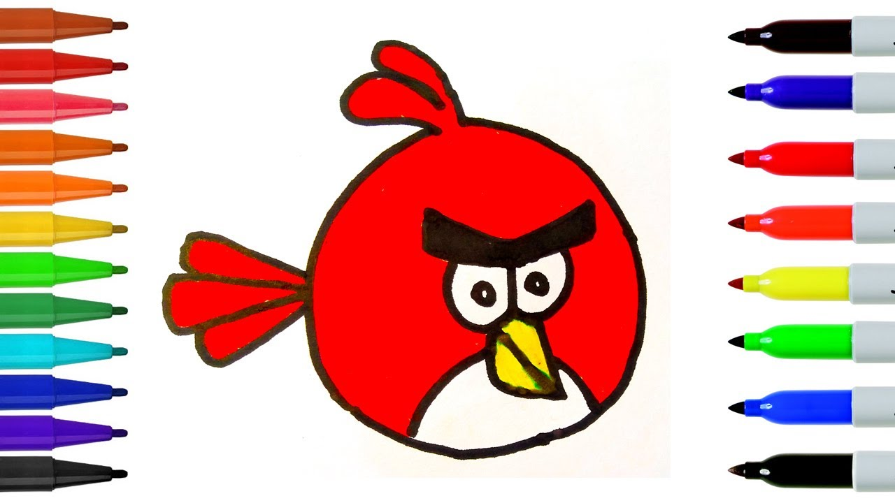1280x720 How To Draw The Red Angry Bird Step
