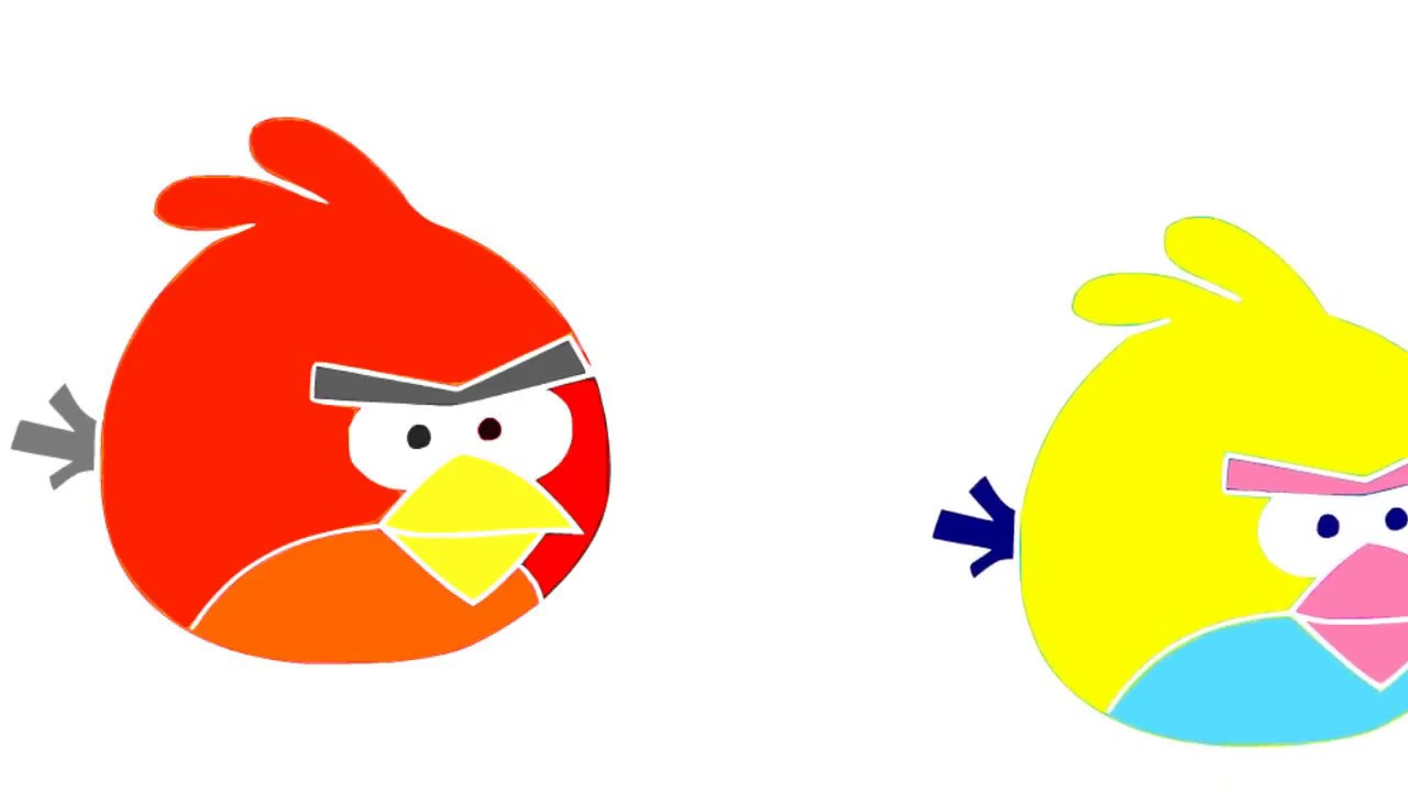 1280x720 How To Draw Red Angry Birds Easyin Red Yellow Drawing