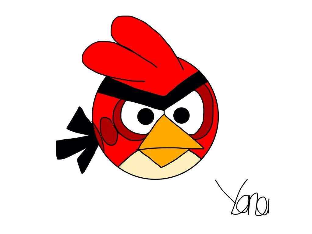 1024x768 My First Drawing Red Angry Birds Amino