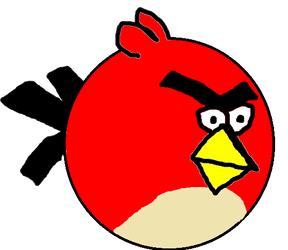 288x250 Red From Angry Birds Second Drawing