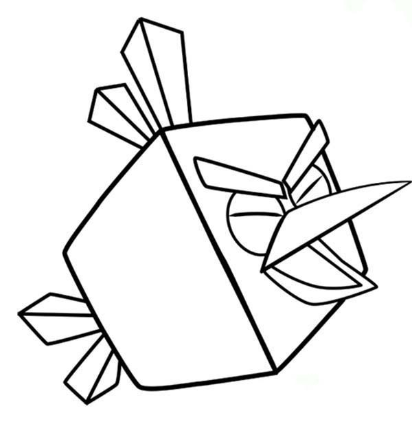 600x614 Angry Birds Space Ice Bird Coloring Pages Free