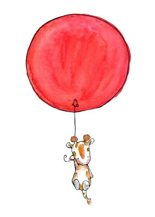 500x700 Drawing Of Giraffe Holding Red Balloon Art Art Drawings