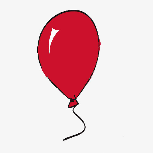 500x500 Red Balloon Pen, Balloon Clipart, Balloon Stroke Png Image