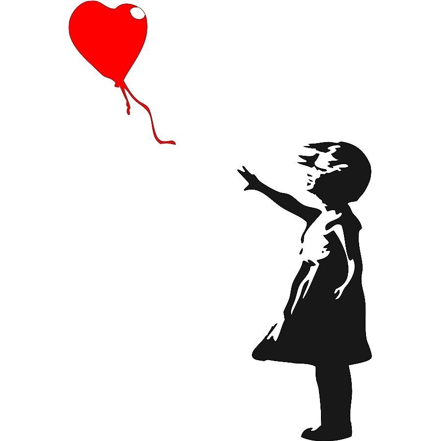 900x900 The Girl With The Red Balloon, Banksy