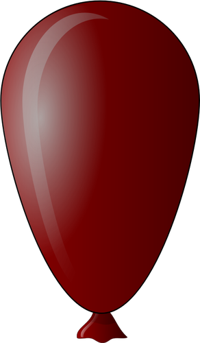 292x500 Vector Drawing Of Egg Shaped Red Balloon