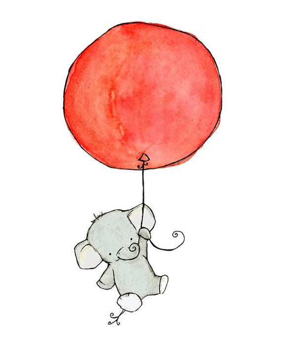 570x713 A Good Luck Elephant For Baby Room I'd Paint This On A Nursery