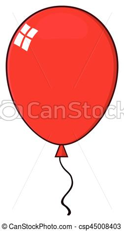 252x470 Cartoon Red Balloon Illustration Isolated On White Background