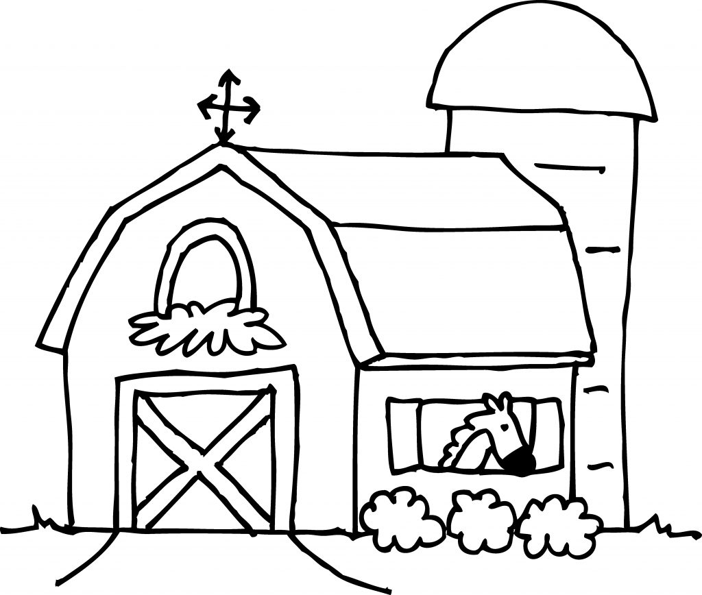 1024x868 Best Barns Coloring Pages Farm Silos Ideas Big Red Barn